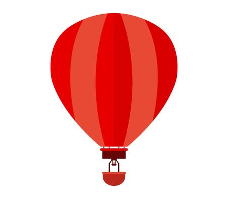 balon baloncesto: icono de globo de aire caliente en el fondo blanco