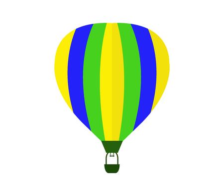 balon de basketball: icono de globo de aire caliente en el fondo blanco