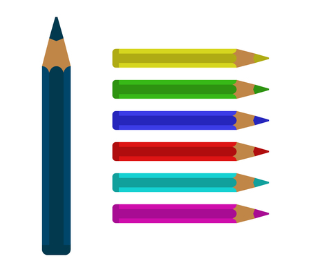 colored: colored pencils Stock Photo