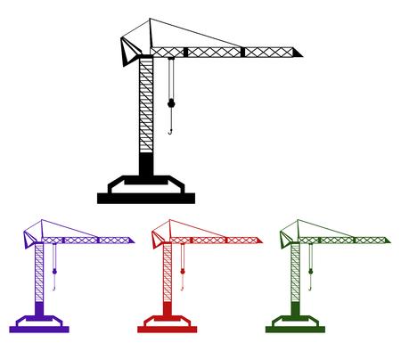 freighter: crane icon on white background