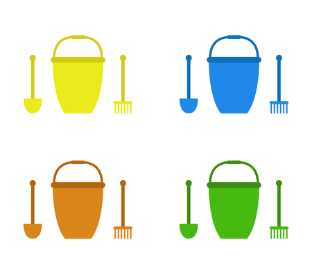 bucket and spade: bucket and spade for the summer