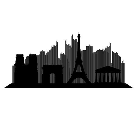 paris skyline: paris skyline Stock Photo