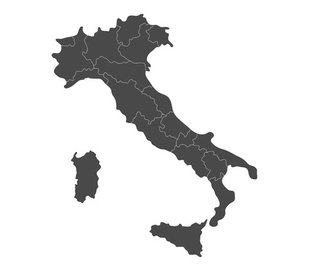 regions: map of Italy with regions
