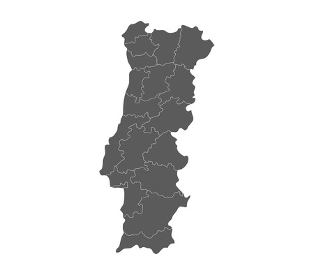 regions: map of portugal with regions