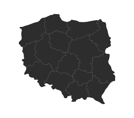 regions: map of Poland with regions