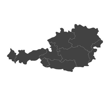 austria map: Austria map with regions Stock Photo