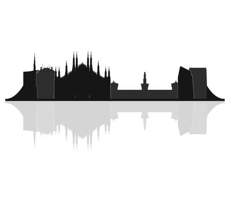 milan skyline Banque d'images