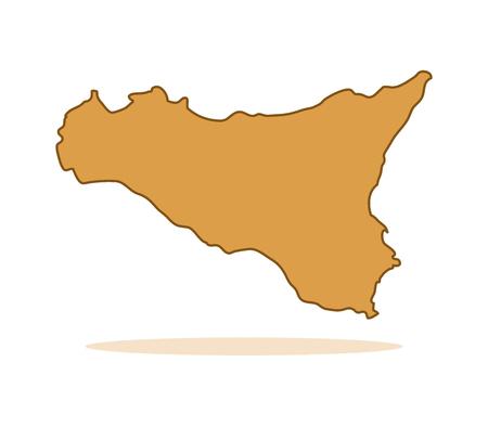 region sicilian: Map of Sicily