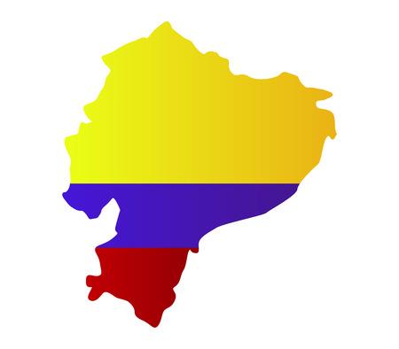 republic of ecuador: Ecuadorian map