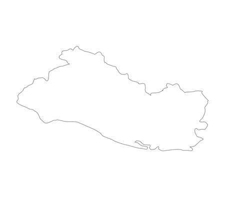 mapa de el salvador: El Salvador mapa Foto de archivo