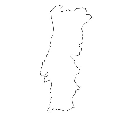 mercator: Map of Portugal