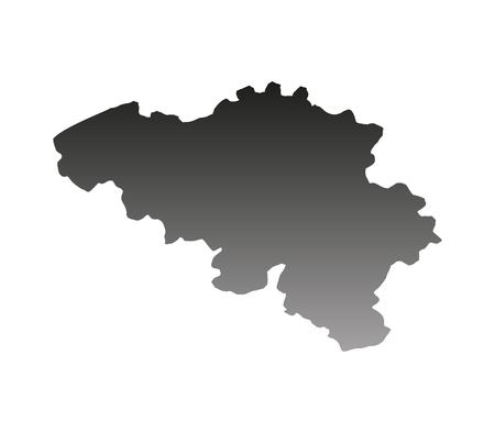 mercator: map of Belgium
