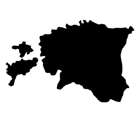 estonian: map estonian Stock Photo