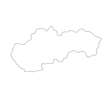 map of Slovakia Banque d'images