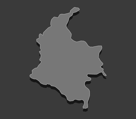 colombia: map of colombia