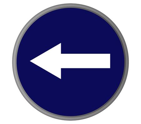 mandatory: Road mandatory direction signal