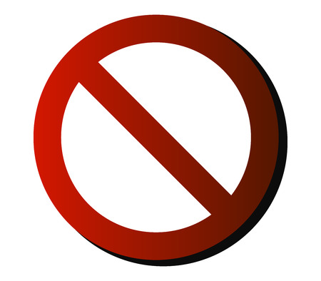 danger do not cross: prohibition sign