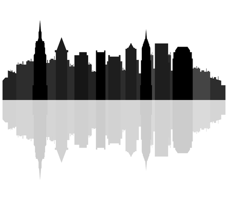 new york skyline: new york skyline Stock Photo