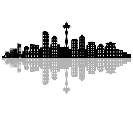 シアトルのスカイライン 写真素材