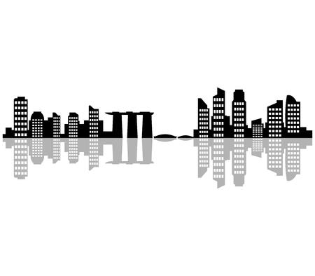 singapore skyline: the Singapore skyline