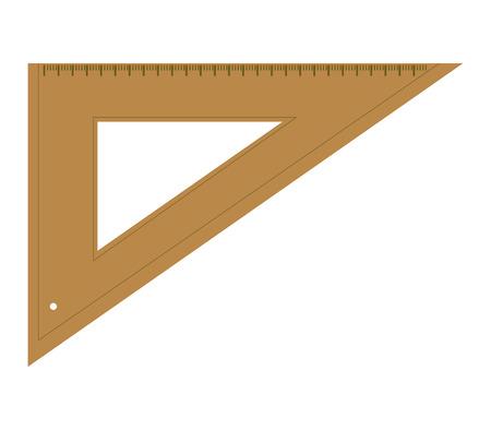 triangular: triangular ruler