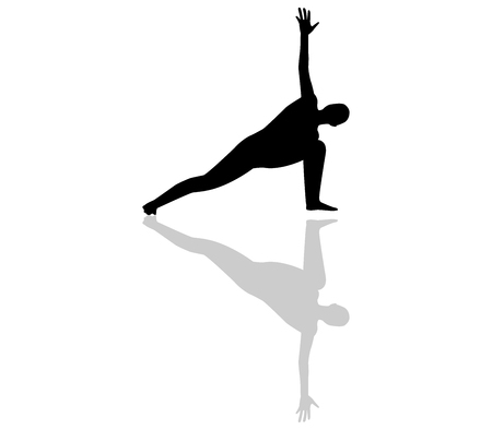 positions: yoga silhouette positions