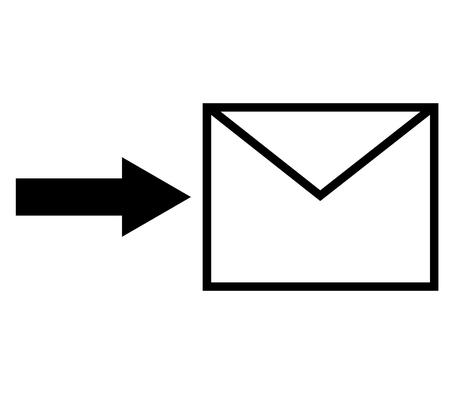 send: send a letter Stock Photo