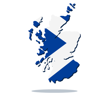 Map of scotland with flag