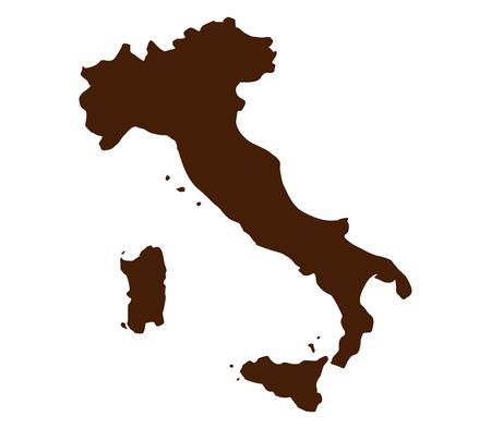 map of Italy Stock Photo