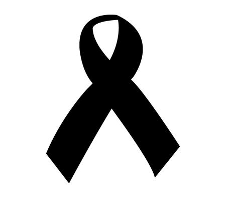 mourning: black ribbon for mourning