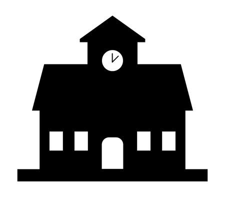 educated: school building icon Stock Photo