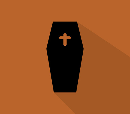 trumna: icon halloween funeral coffin