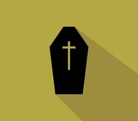 coffin: icon halloween funeral coffin