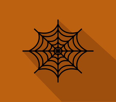 spinnenweb icoon voor Halloween geïllustreerd in plat design Stockfoto