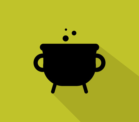 pot icon for halloween illustrated in flat design