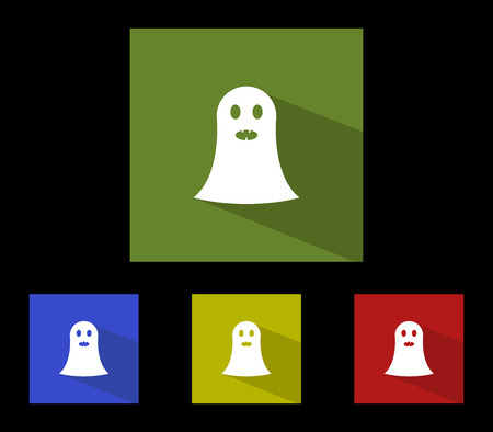 set of icons for halloween ghosts
