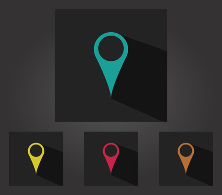 markers: set of map markers icons Stock Photo