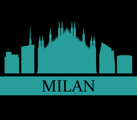milan: milan skyline Stock Photo