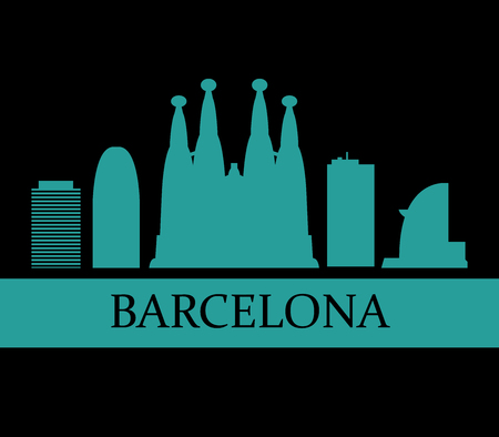 barcelona: barcelona skyline