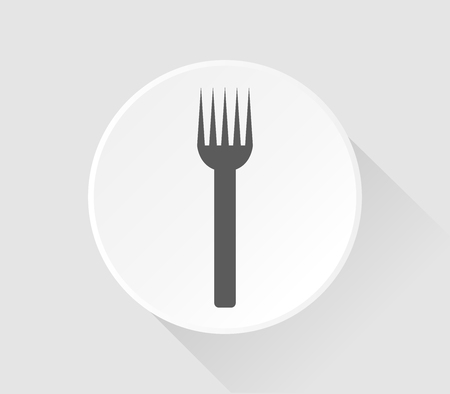 natures: icon fork in flat design