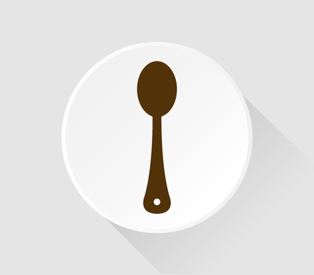 spoon icon in flat design