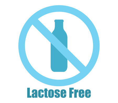 lactose: icon lactose free Stock Photo