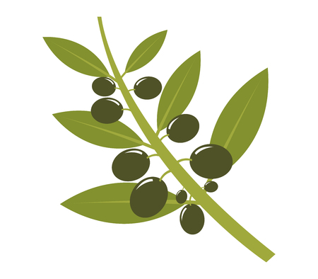 natures: icon olives Stock Photo