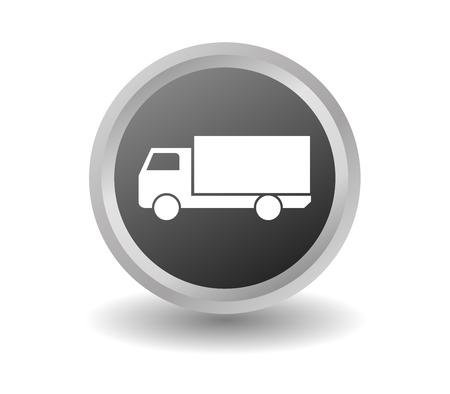 freighter: truck icon Stock Photo