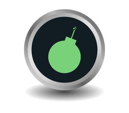 bomb icon Stock Photo