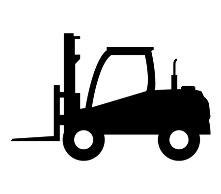 freighter: icon forklift Stock Photo
