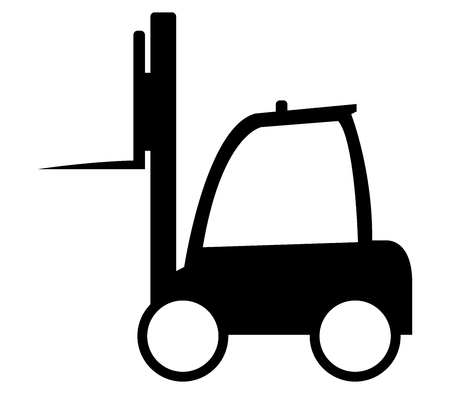 fork lifts trucks: icon forklift Stock Photo