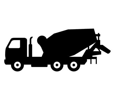truck concrete mixer: icon concrete mixer truck