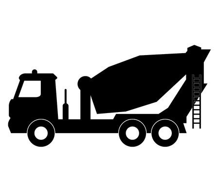 concrete mixer truck: icon concrete mixer truck