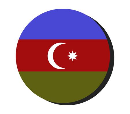 circle shape: Flag of Azerbaijan in a circle shape
